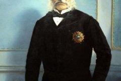 """José Julián Acosta y Calbo (1891) Francisco Oller y Cestero (1833-1917) Óleo 57"""" x 37 3/4"""""""
