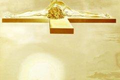 """El Cristo de Gala (1980) Salvador Dalí (1904-1985) Litografía 13"""" x 10"""""""