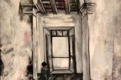 "Alma Adentro (1961) Rafael Tufiño Óleo sobre masonite 48"" x 34"""