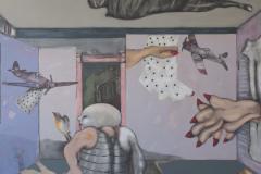 """El Cuarto de los Fantasmas (2015) Andrés Rodríguez Medio Mixto sobre Lienzo 60"""" x 78"""""""
