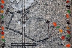 """Autorretrato (2015) Antonio Martorell Impresiones sobre fieltro o guata de alfombra 108"""" x 65"""""""