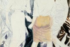 "Baile de estudiantes (1978) Mixto Sobre Papel 20""x15"""