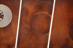 """Circunferencia de los nueve puntos (2010) Heriberto Nieves Medio mixto 49"""" x 144"""""""