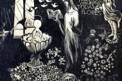 """El bautismo (1969) Rafael Tufiño Xilografía, edición 1983 36 3/8"""" x 39 1/8"""""""