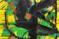 """El Árbol de la Verdad (2007) Rafael Rivera Rosa Acrílico sobre lienzo 65"""" x 69"""""""