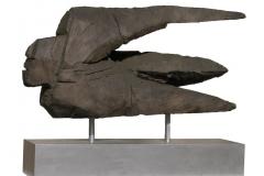 """Juracán (dios del viento) (1998) Domingo García Escultura en bronce 37"""" x 81"""" x 20 1/2"""""""