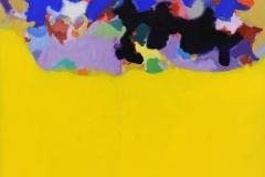 "Manto de luz (2012) Carmelo Fontánez Acrílico sobre lienzo 54 ¾"" x 44 ½"""