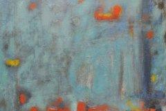 "Muro azul (1964) Luis Hernández Cruz Acrílico sobre lienzo 50 1/2"" x 42 1/2"""
