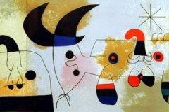 """Ilustración I Tríptico (1971) Joan Miró (1893-1983) Litografía 10 1/4 """" x 31 1/4 """""""