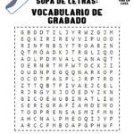 Sopa de letras- Vocabulario de Grabado