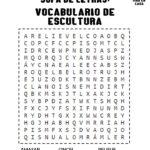 Sopa de letras- Vocabulario de escultura