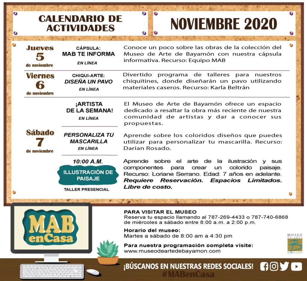 MAB en Casa: del 5 al 7 de noviembre