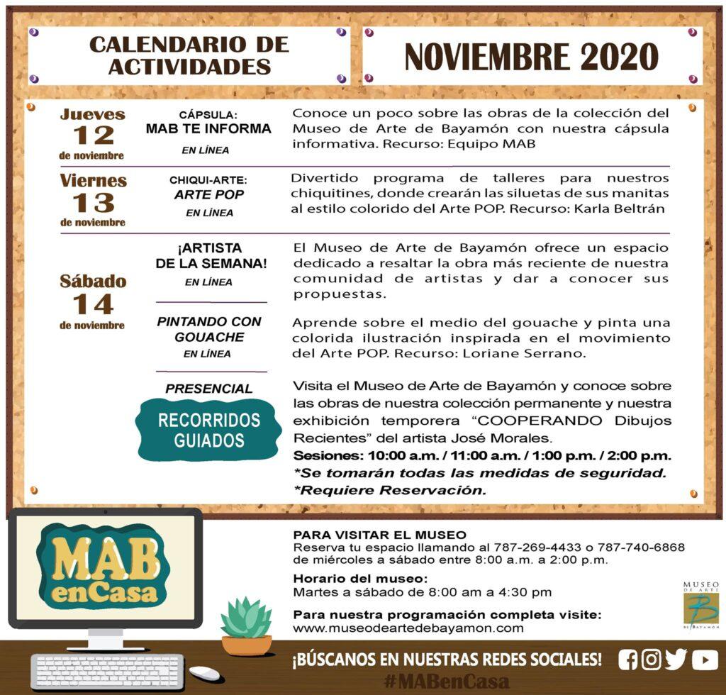 MAB en Casa: del 12 al 14 de noviembre
