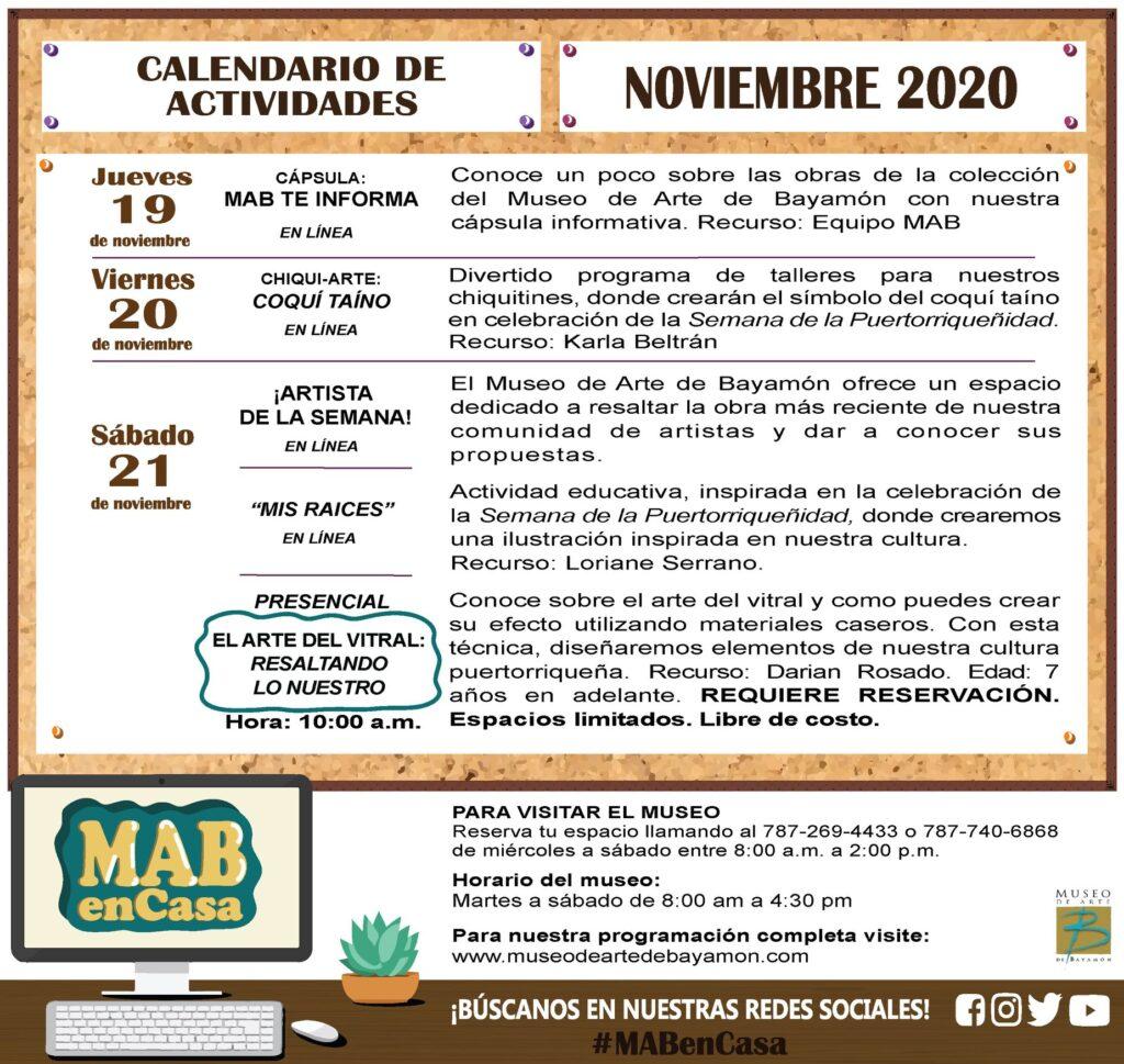 MAB en Casa: del 19 al 21 de noviembre