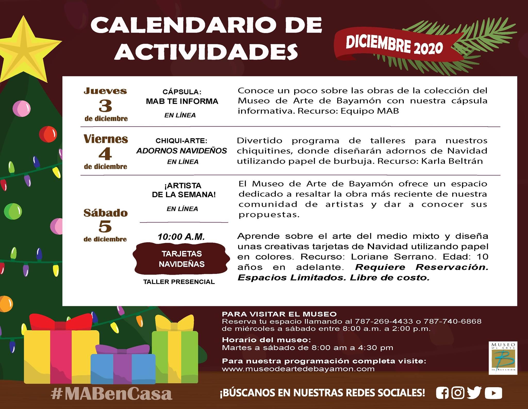 MAB en Casa: del 3 al 5 de diciembre