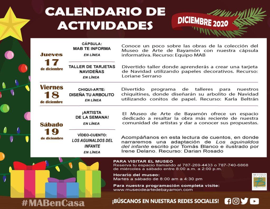 MAB en Casa: del 17 al 19 de diciembre