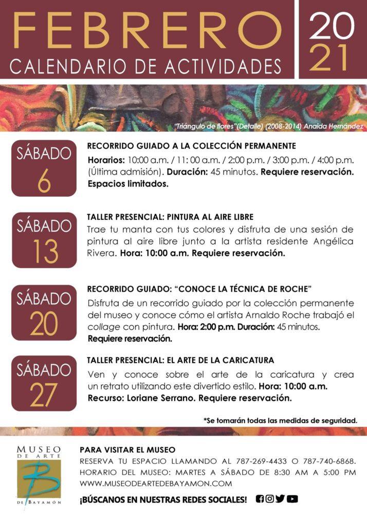Calendario de Actividades para el Mes de Febrero