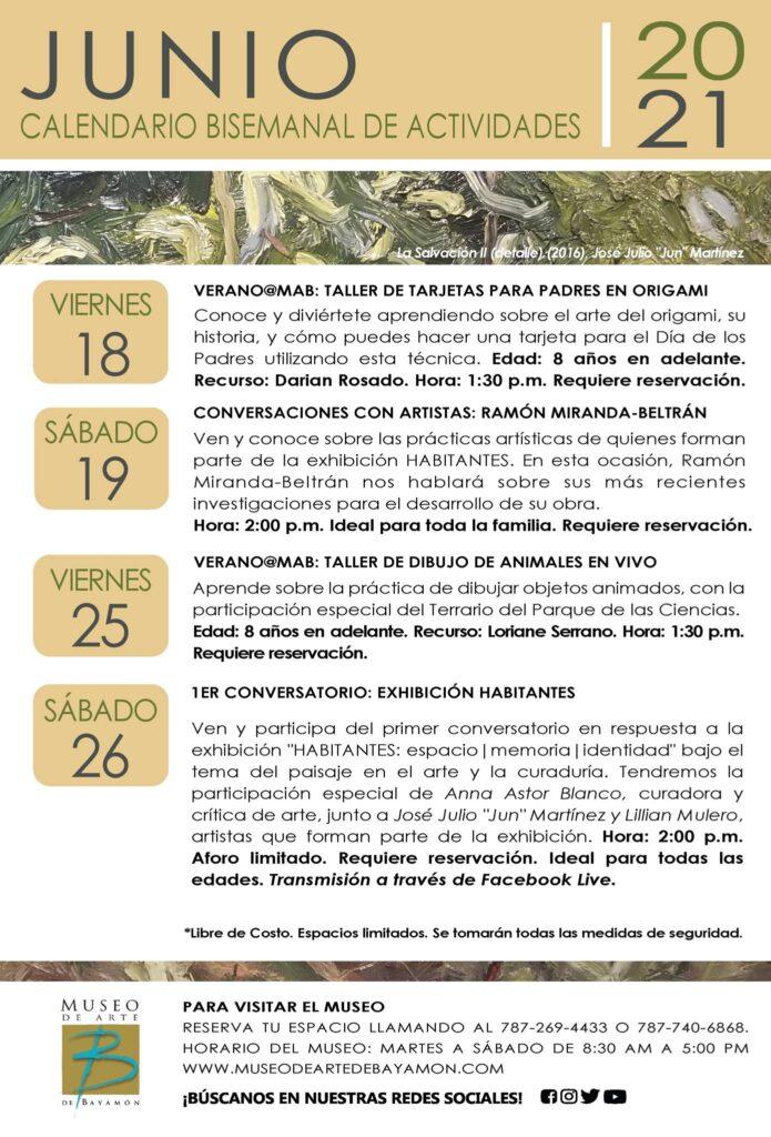 Calendario de Actividades para Segunda Bisemana de Junio