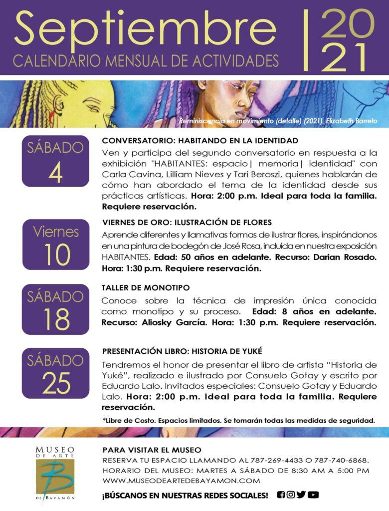 Calendario de Actividades para el Mes de Septiembre